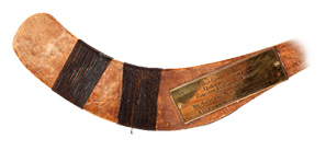 Number 2 artifact in the Original Hockey Hall of Fame collection - original historic hockey stick circa 1888