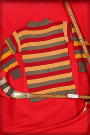 Number 3 artifact in the Original Hockey Hall of Fame collection - hockey's oldest jersey 1894 Queen's University