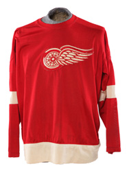 Number 8 artifact in the Original Hockey Hall of Fame collection - Gordie Howe Number 9 Detroit Red Wings Jersey