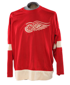 Original sweater worn by Detroit Red Wings' Gordie Howe